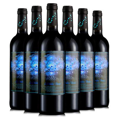 法国原瓶进口红酒整箱 梦诺蓝色星空干红葡萄酒750ml*6