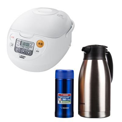 象印電飯煲+保溫水壺+保溫杯組合