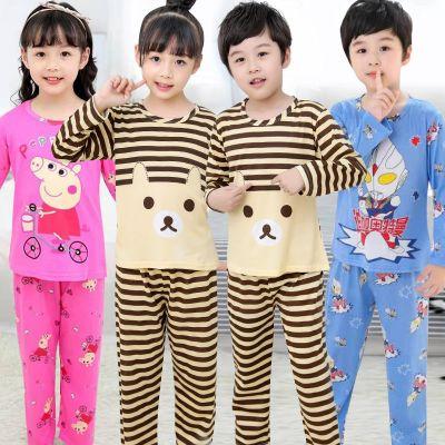 兒童睡衣秋季小女孩長袖中大男女童套裝夏天寶寶薄款空調家居服 莎丞