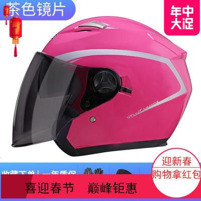 2019电动电瓶摩托车头盔男女士四季通用半盔灰可爱韩版冬季安全帽