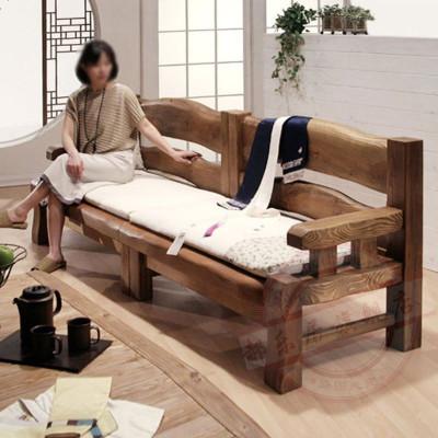 實木沙發組合新中式家具木質實木客廳小戶型仿古家具原木定制