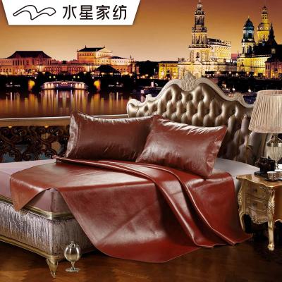 水星家紡牛皮席1.8米床雙人牛皮涼席夏季牛皮軟席子御瀾 席子純色床席涼席席子 床上用品