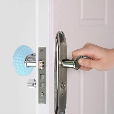 10个装静音门后墙防撞垫橡胶防碰贴自粘门把手门锁防护垫缓冲贴