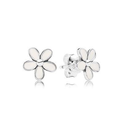 PANDORA潘多拉珍愛雛菊925銀耳釘290538EN12新款氣質飾品耳環女