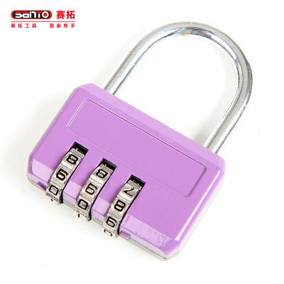 賽拓(SANTO) 0412 三碼密碼鎖(顏色隨機)安全鎖 鎖具 小鎖 行李箱鎖 門鎖銅鎖芯