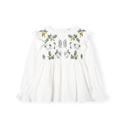 【1件5折】巴拉巴拉女童衬衫儿童衬衣长袖春季2019新款中大童童装简约百搭女