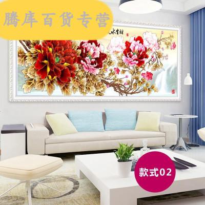 中質 畫2020新款滿鉆客廳大幅家和興點貼鉆十字繡牡丹花磚石繡