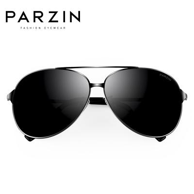 帕森PARZIN 男士墨鏡太陽鏡男潮人開車偏光蛤蟆鏡太陽眼鏡司機駕駛鏡8009
