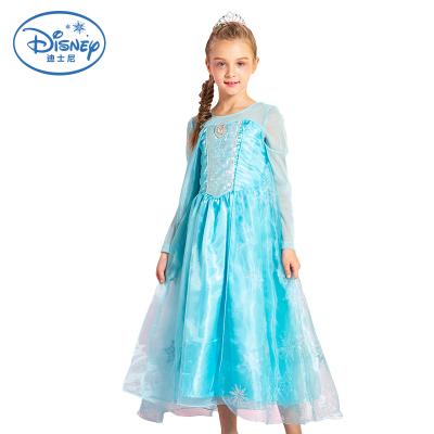 迪士尼DISNEY 冰雪奇缘2女童艾莎2连衣裙 冰雪女皇加长款不掉粉公主裙