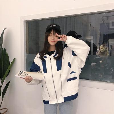 2020春季新款港風工裝外套女學生寬松棒球服上衣秋裝潮