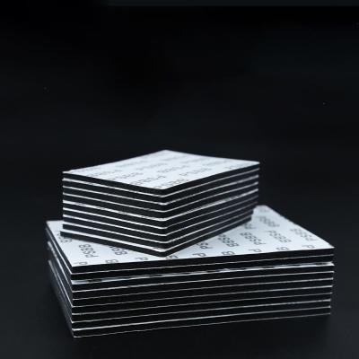 PSBB雙面膠強力無痕膠海綿膠帶防水汽車用膠行車記錄儀掛鉤蚊帳 方形:60x80mm(6片裝)黑膠