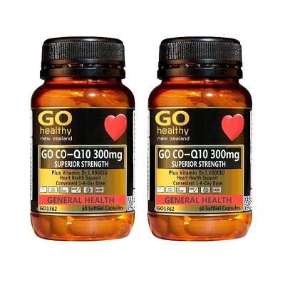 Go healthy 高之源 品牌授权 新西兰直邮原装进口 高浓度辅酶300mg 60粒 2瓶