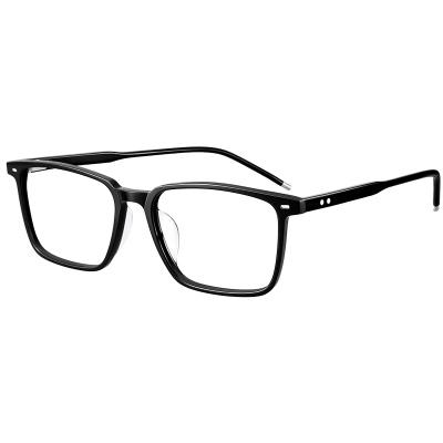 普萊斯(pulais)板材眼鏡框眼睛框鏡架男方形近視眼鏡男大框超輕眼鏡潮7760