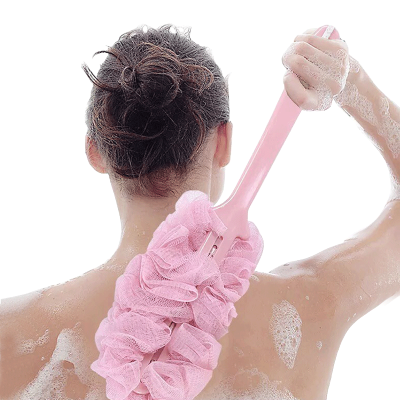 嘉萊凈 長柄浴刷浴球搓后背強力不求人搓澡擦成人軟毛浴花刷