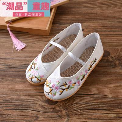 兒童繡花鞋民族風繡花布鞋舞蹈鞋古裝漢服配飾女童布鞋  EddieEva