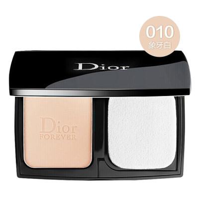 迪奧(Dior)粉餅 新版凝脂高效保濕控油 啞光粉餅9g 010#象牙白