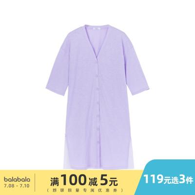 巴拉巴拉童裝女童外套兒童夏裝中大童輕薄透氣空調服長款