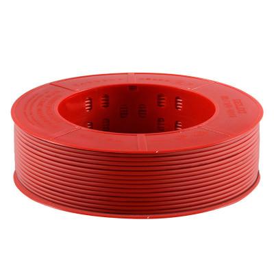 【官方旗艦店】德力西家裝 電線電纜 6平方銅芯線BV單芯單股硬線紅色 50m