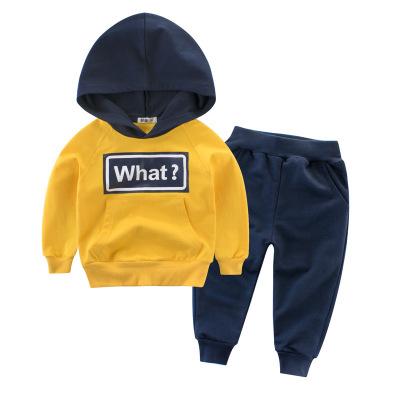 2020春款童裝新款兒童套裝男童服裝兩件套寶寶衛衣元氣小猴STRONG MONKEY