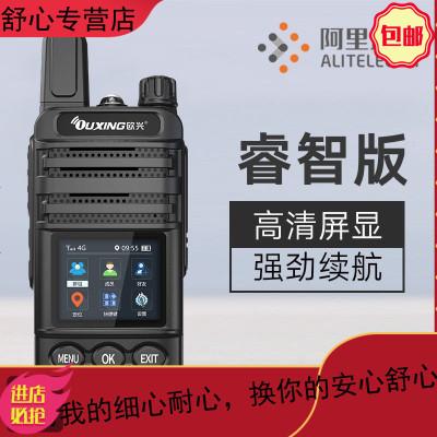 4G全國對講戶外機手持民用5000公里手臺無線自駕游迷你對講講機軍 睿智版 電信100MBx12個月