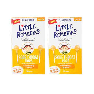 【2件裝】LITTLE REMEDIES 天然蜂蜜棒棒糖 10支裝/盒