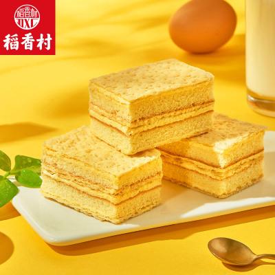 稻香村拿破侖早餐蛋糕370g*2盒糕點零食點心巧克力奶油面包