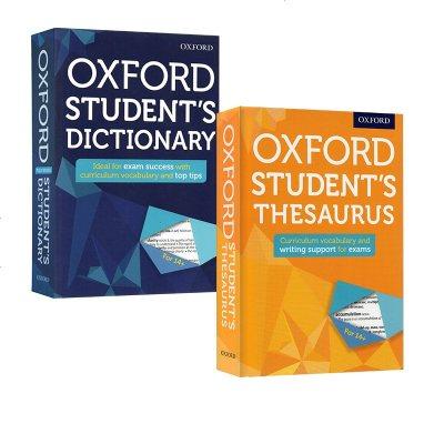 英文原版 Oxford Student's Dictionary/Thesaurus 2冊 牛津中學生英文詞典 同義