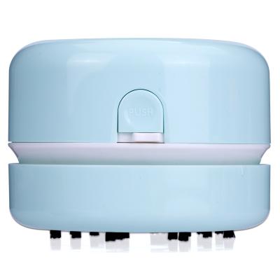得力 18880 淺綠色(deli)迷你桌面吸塵器 清潔器清理器 自動電動微型強力可愛橡皮擦橡皮屑除塵器