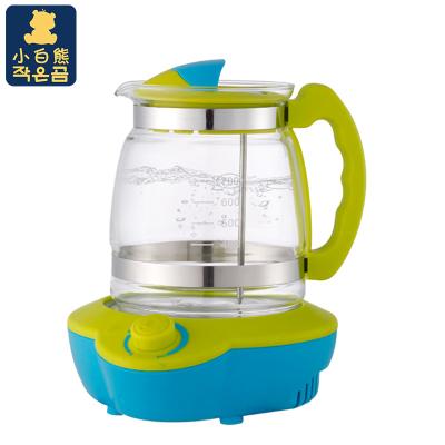小白熊(Snow Bear)恒温玻璃壶调奶器 多功能暖奶智能调奶器家用热水壶 蓝绿 HL-0813