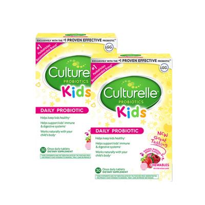 2件裝|Culturelle 康萃樂 進口兒童益生菌咀嚼片 30片/盒 品牌直采