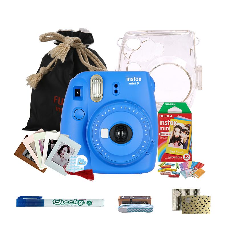 富士(FUJIFILM)INSTAX 一次成像相机立拍立得 mini9 海水蓝色胶片相机 入门套餐一(含10张胶片)