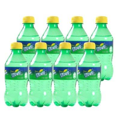 10.99元包邮  Sprite 雪碧 柠檬味碳酸饮料 300ml*8瓶