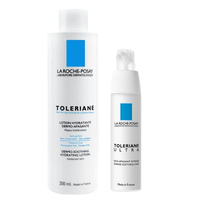 理肤泉特安舒护润肤水+特安舒缓修复霜 200ml+40ml 温和补水修护滋养润肤 面部护肤套装礼盒