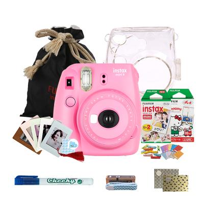 富士(FUJIFILM)INSTAX 一次成像相机立拍立得 mini9 火烈鸟粉色胶片相机 奢华套餐三(含30张相纸)