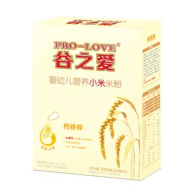 谷之爱小米米粉婴儿225克钙铁锌米乳高营养宝宝辅食 高铁米粉