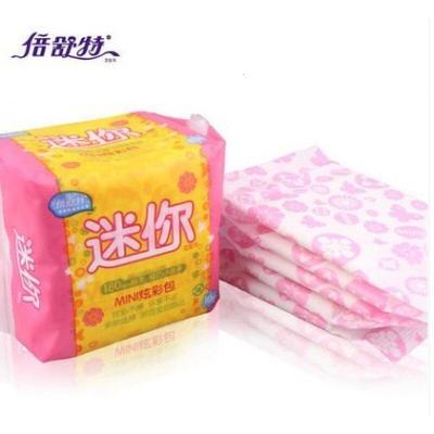 倍舒特日用迷你卫生巾180mm10包组合长条型姨妈巾棉柔 可当护垫