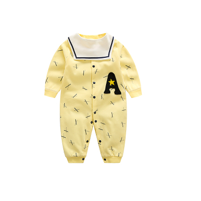 一年级(YINIANJI)婴儿纯棉连体衣新生儿春秋装衣服男女宝宝长袖哈衣爬爬服