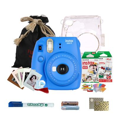 富士(FUJIFILM)INSTAX 一次成像相机立拍立得 mini9 海水蓝色胶片相机 实用套餐二(含20张胶片)
