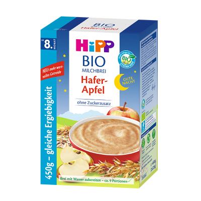 德国HIPP喜宝婴幼儿晚安燕麦苹果奶糊8个月