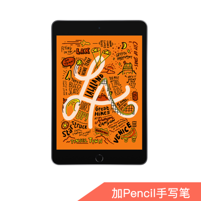 【套餐】19款 Apple iPad mini 7.9英寸 平板电脑 256G WLAN版 灰色+ Pencil一代手写