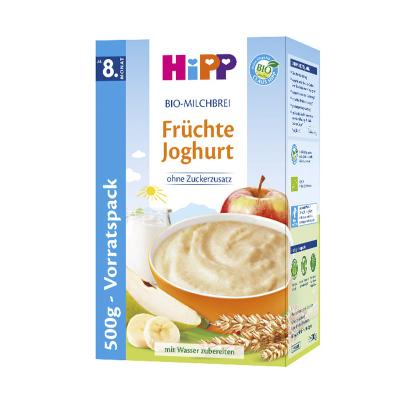 德国进口喜宝(Hipp)有机酸奶益生菌水果什锦米粉 宝宝辅食3段500g 8个月以上 盒装