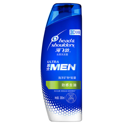海飞丝(Head & Shoulders) 男士去屑洗发露劲感去油型380ML