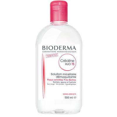 Bioderma 贝德玛舒妍洁肤液 TS特润型500ml 温和多效卸妆水卸妆液粉水 深层清洁收缩毛孔 干性肤质