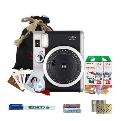 富士(FUJIFILM)INSTAX 一次成像相机立拍立得 mini90相机黑色 套餐三(20张胶片)富士小尺寸胶片相机