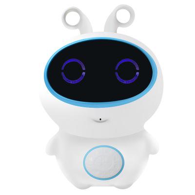 小琪XIAOQI H5儿童智能机器人学英语玩具可对讲课程辅导益智WIFI语音学习PVC早教机 蓝色
