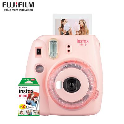 富士(FUJIFILM)INSTAX 一次成像相机 立拍立得 mini9蜜桃粉果冻相机 套餐二(含20张相纸)