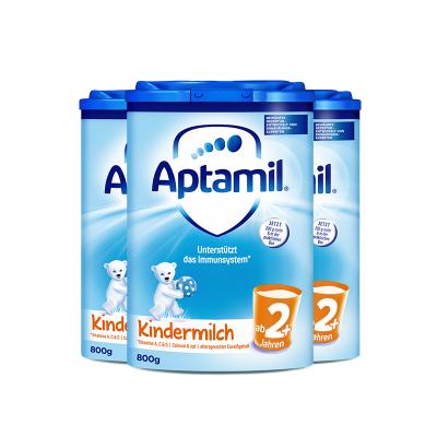 【保税3罐】aptamil德国爱他美婴儿配方奶粉2+/5段800g(2岁以上)易乐罐 原装进口