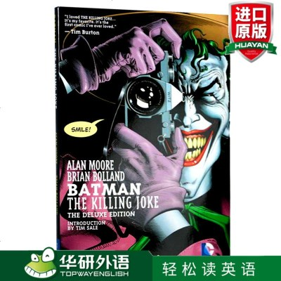 蝙蝠侠 致命玩笑 20周年纪念版 英文原版 Batman The Killing Joke 彩色漫画精装豪华版 英文