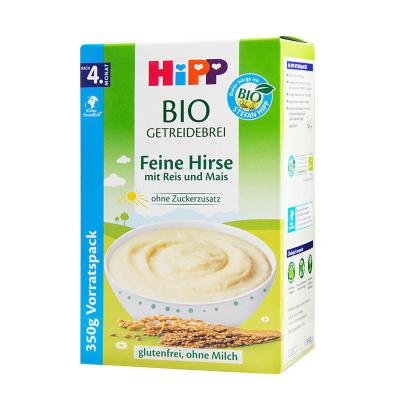 【 新效期2022年3月】原装进口德国喜宝Hipp有机免敏喜宝小米米粉350g 4个月以上 进口儿童易消化米粉调理肠胃